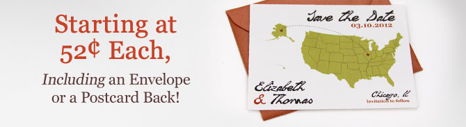 Starting at 52¢ Each, Including an Envelope or a Postcard Back!